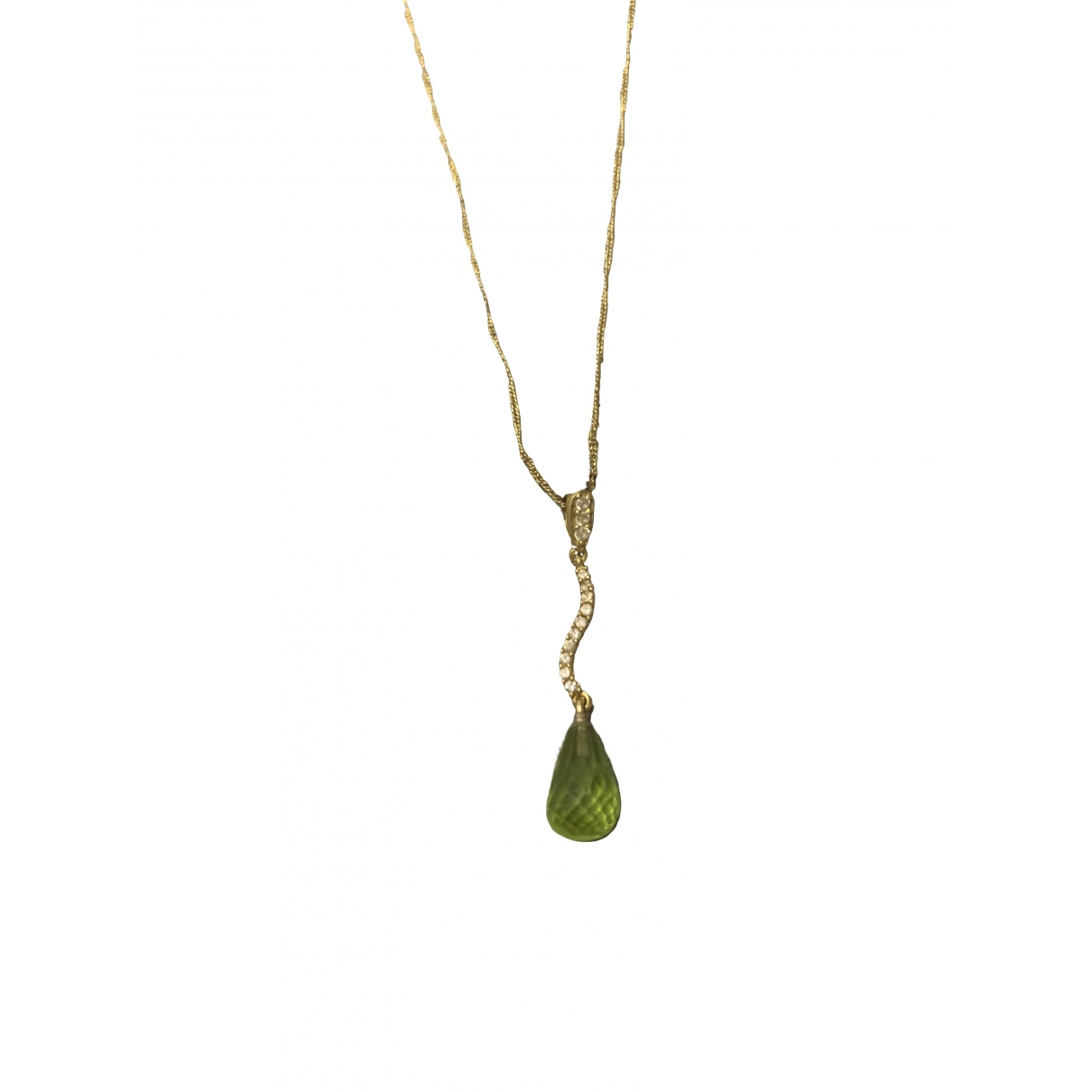 Non Signé / Unsigned \N Green Pearls pendant for Women \N