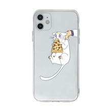 Funda de iphone transparente con estampado de gato
