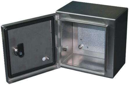 RS PRO 304 Stainless Steel Wall Box, IP66, 200mm x 300 mm x 400 mm, Unpainted