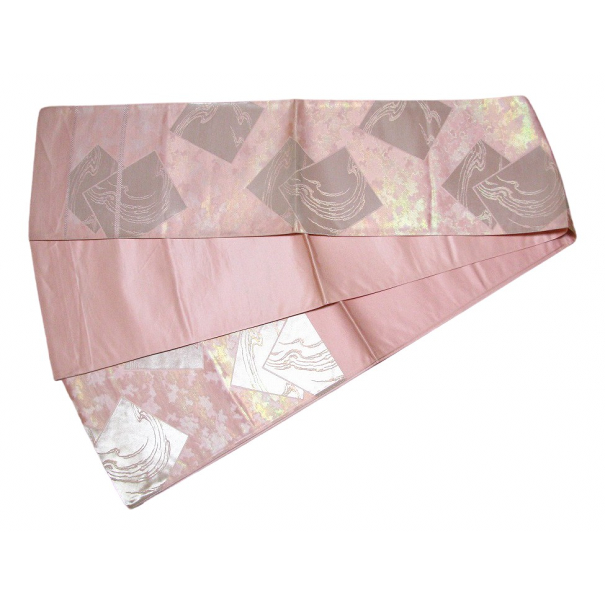 Non Signé / Unsigned \N Pink Silk belt for Women L International