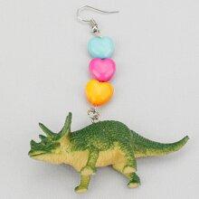 Dinosaur Design Drop Earrings