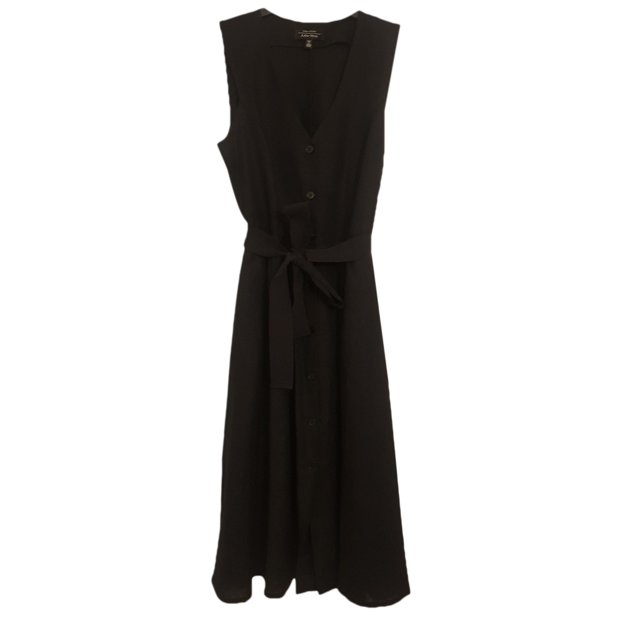 & Other Stories - Robe   pour femme en lin - noir