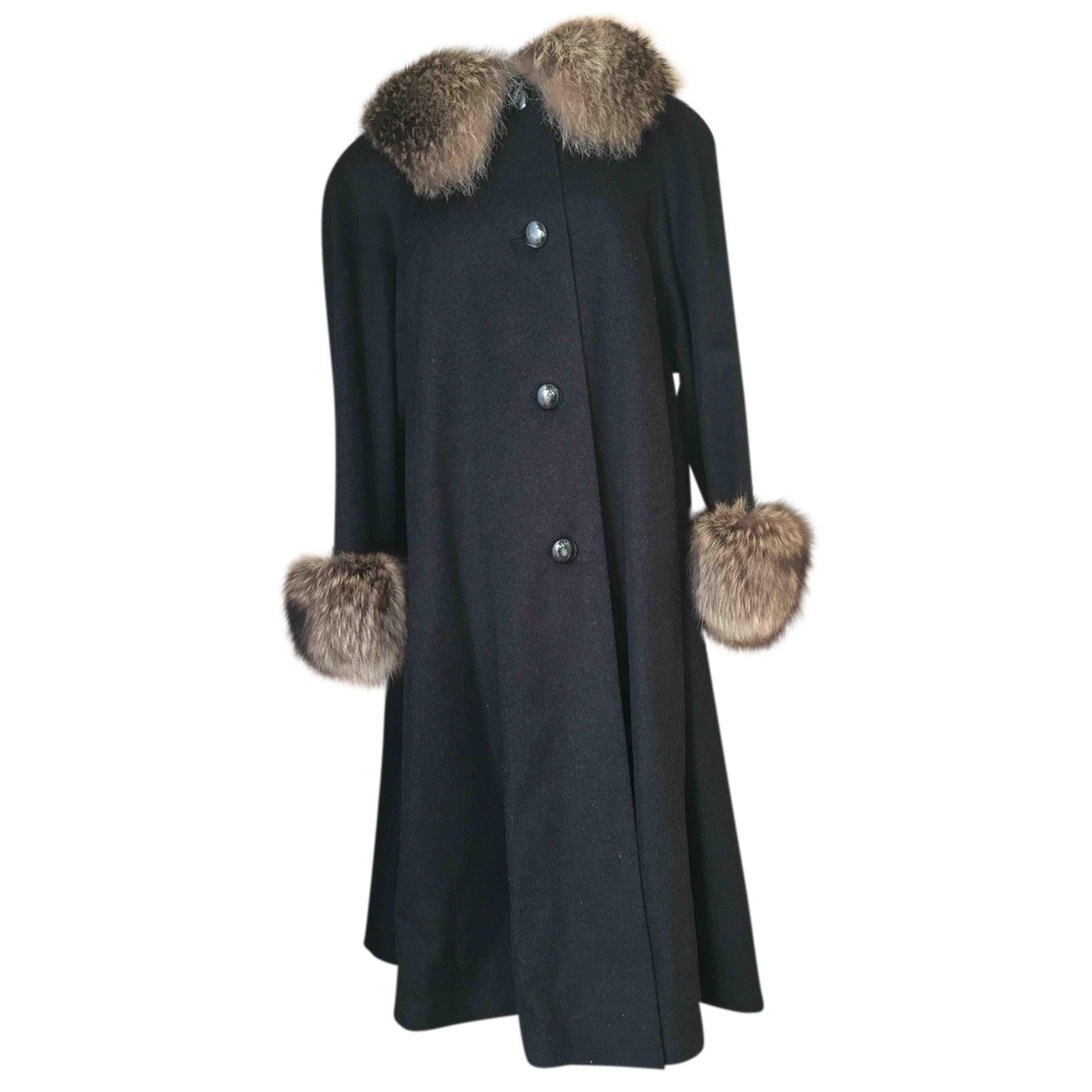 Autre Marque N Anthracite Wool coat for Women One Size International