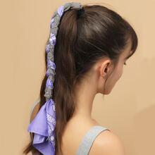 Haarband mit Hahnentritt Muster und Schal Dekor