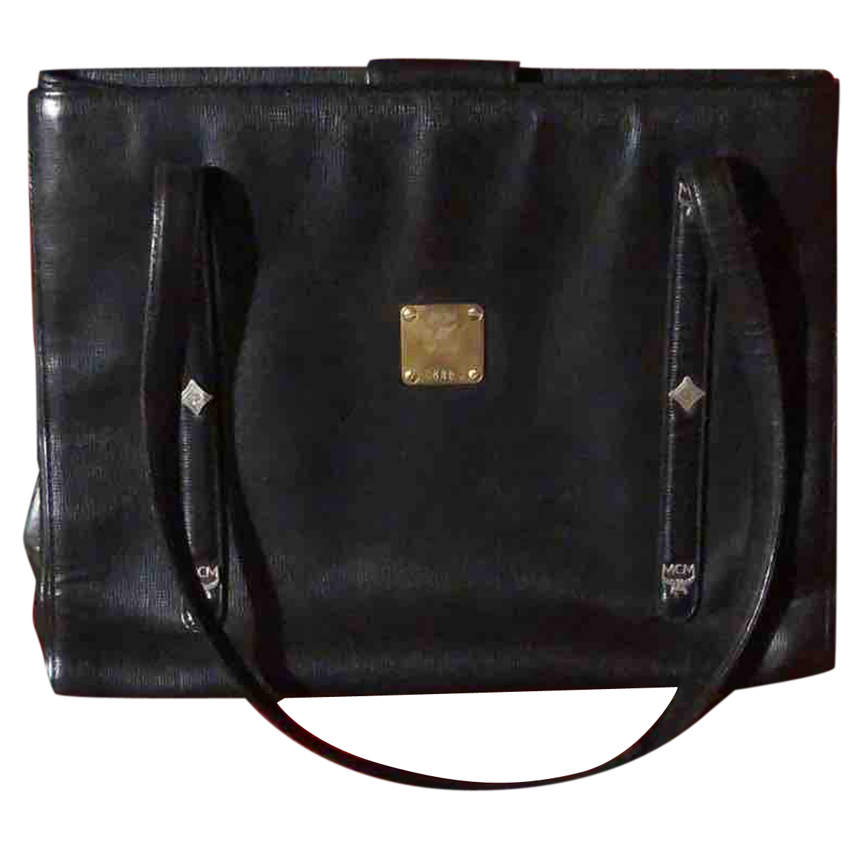 Mcm N Black Leather handbag for Women N