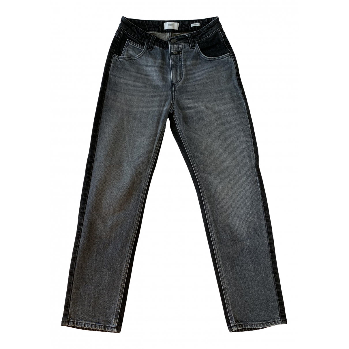Closed \N Anthracite Denim - Jeans Trousers for Women 34 FR