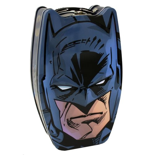 Batman Embossed Head Shape Carry All Tin Tote