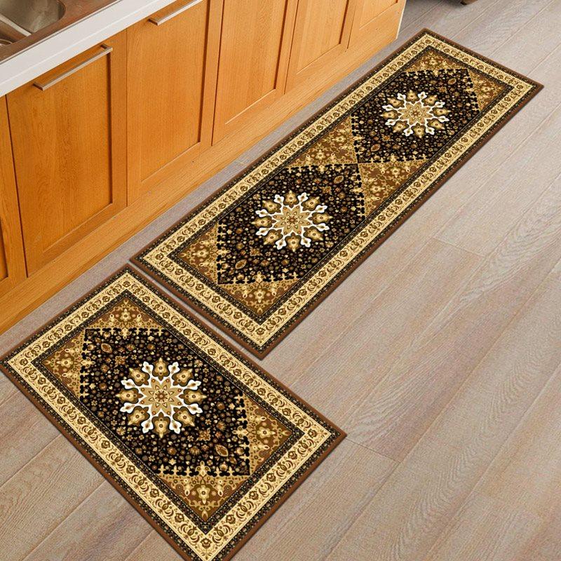 Beddinginn Skid Resistance Floral Rectangle Carpets/Mats