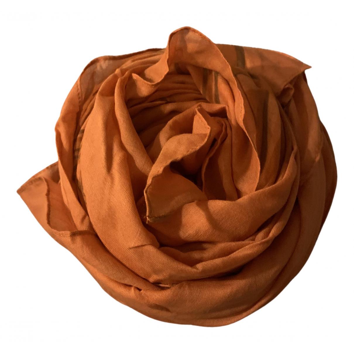 Longchamp - Foulard   pour femme en coton - orange