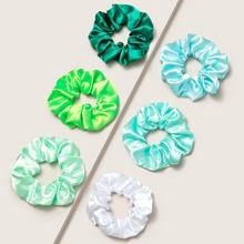 6pcs Colorful Satin Scrunchie