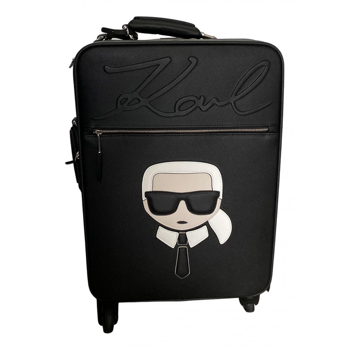 Karl - Sac de voyage   pour femme en cuir - noir