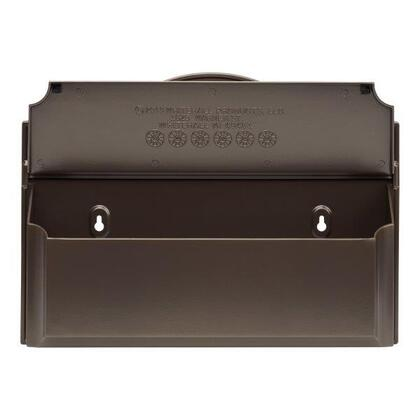 16601 Colonial Wall Mailbox with Alumi-Shield and Two keyhole mounting holes in Bronze