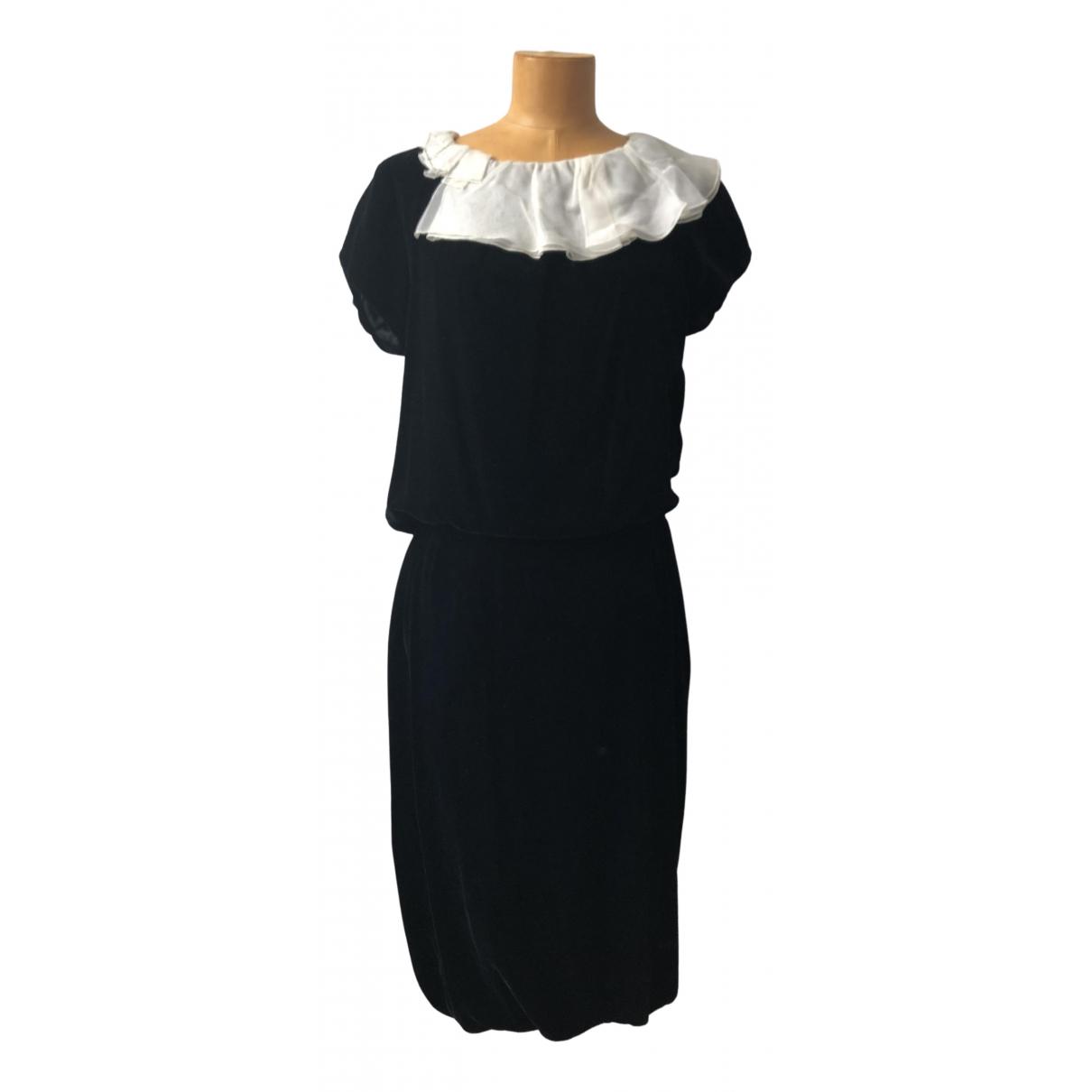 Louis Vuitton \N Kleid in  Schwarz Samt