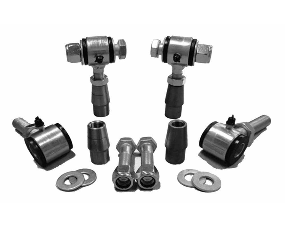 Steinjager J0011811 5/8-18 RH LH Poly Bushings Kits, Male 9/16 Bore x 2.50 Wide fits 1.250 x 0.095 Tubing Zinc Plated Bush Housing Four Poly Ends Per