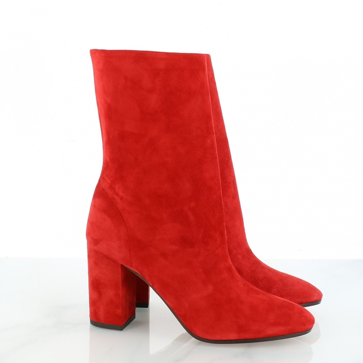Aquazzura - Boots   pour femme en suede - rouge