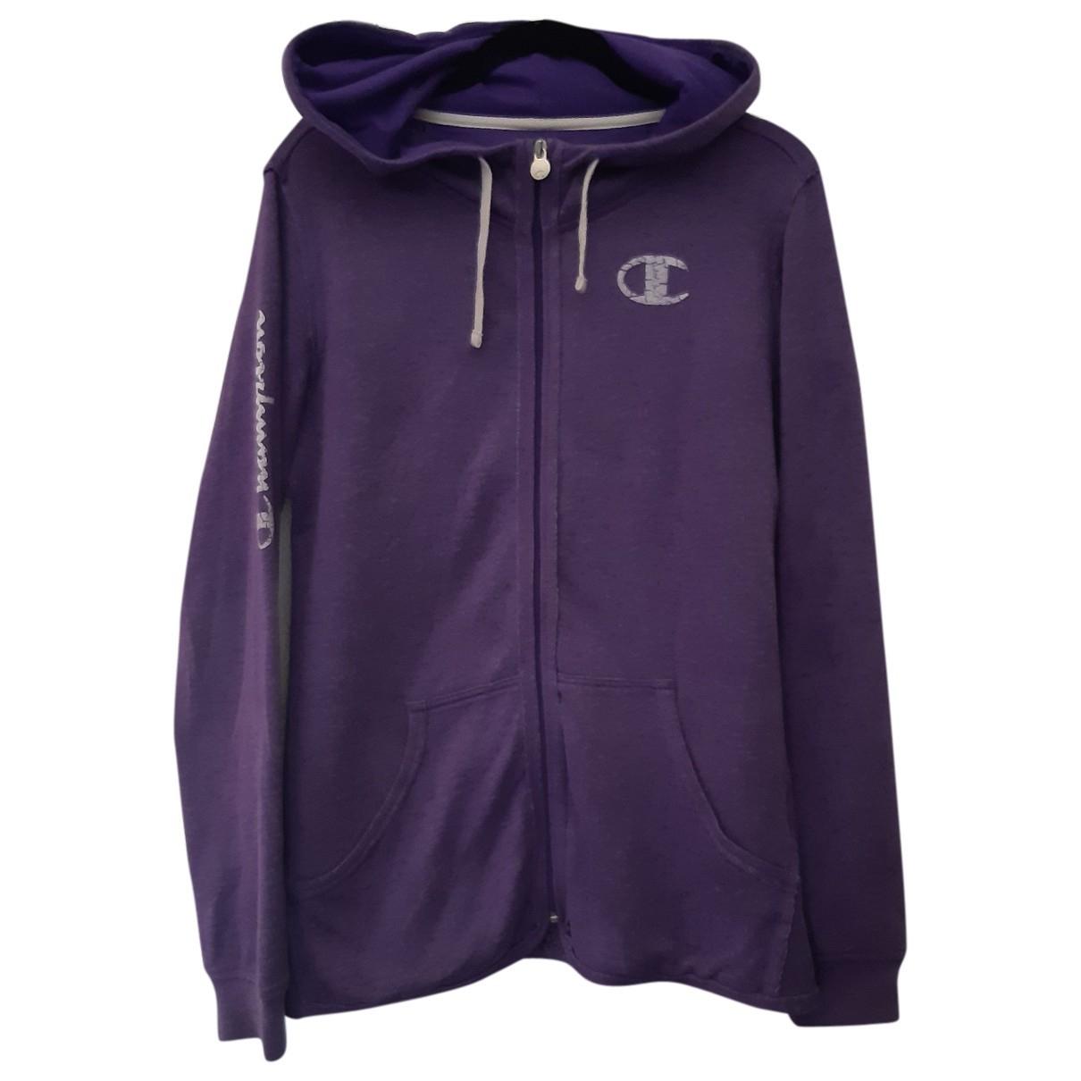 Champion \N Pullover.Westen.Sweatshirts  in  Lila Baumwolle