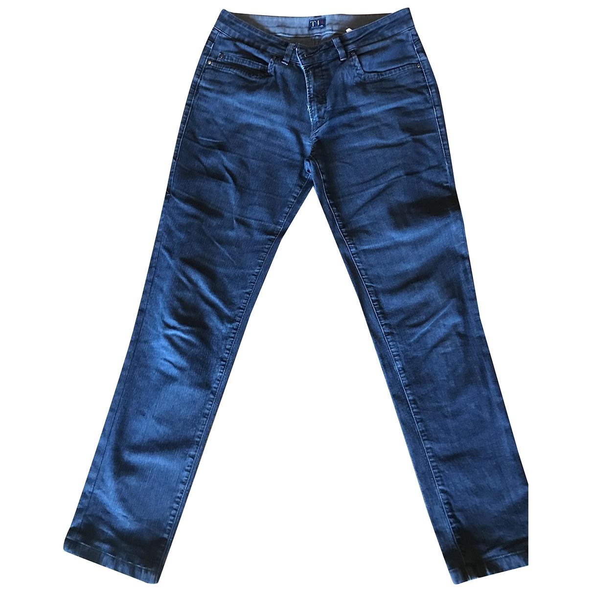Trussardi Jeans \N Blue Denim - Jeans Trousers for Women 44 IT