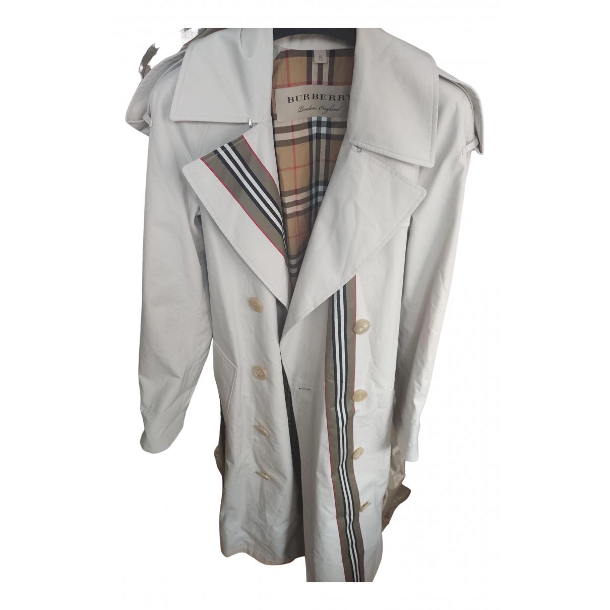 Burberry - Trench   pour femme en laine - gris