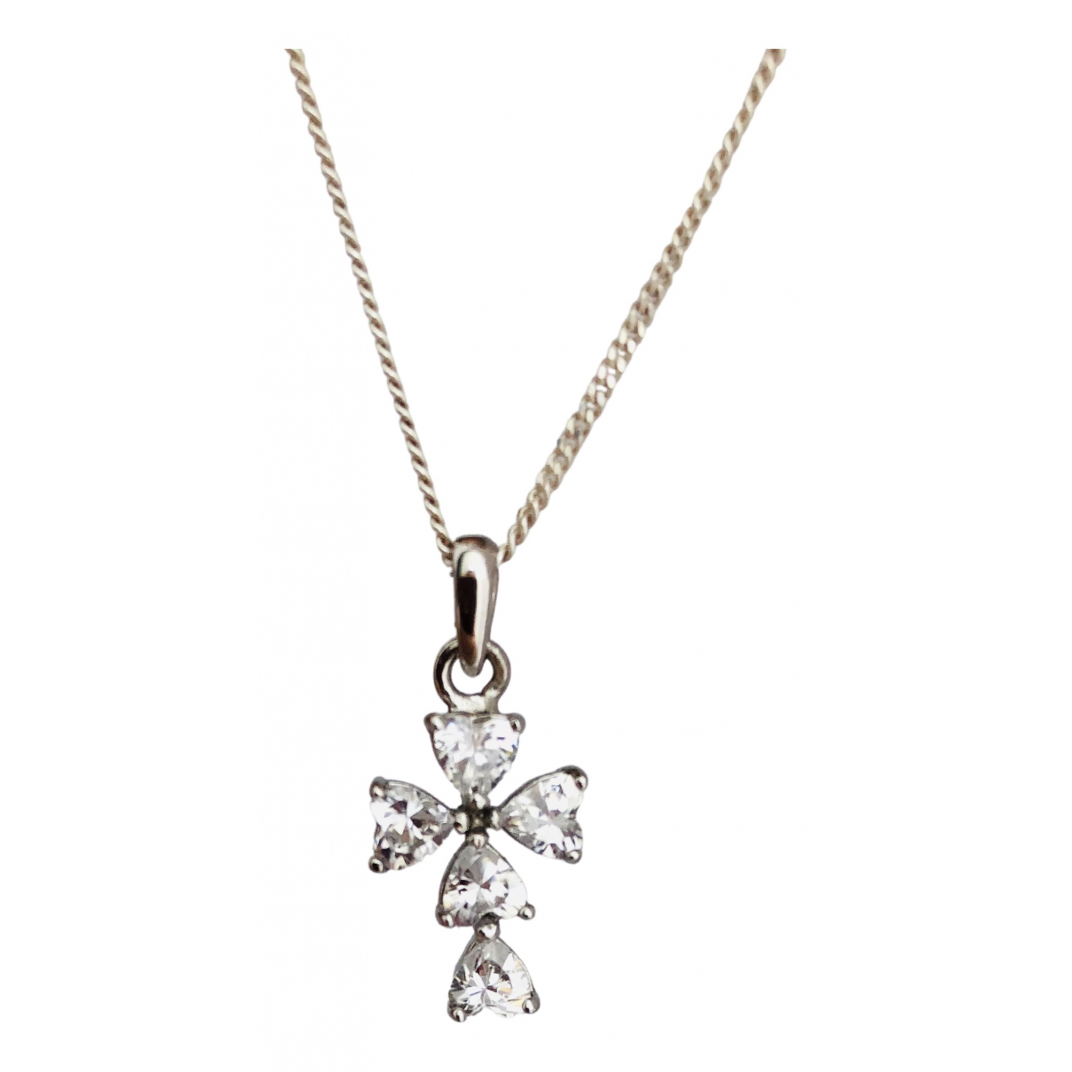Non Signé / Unsigned Croix Silver Silver necklace for Women N