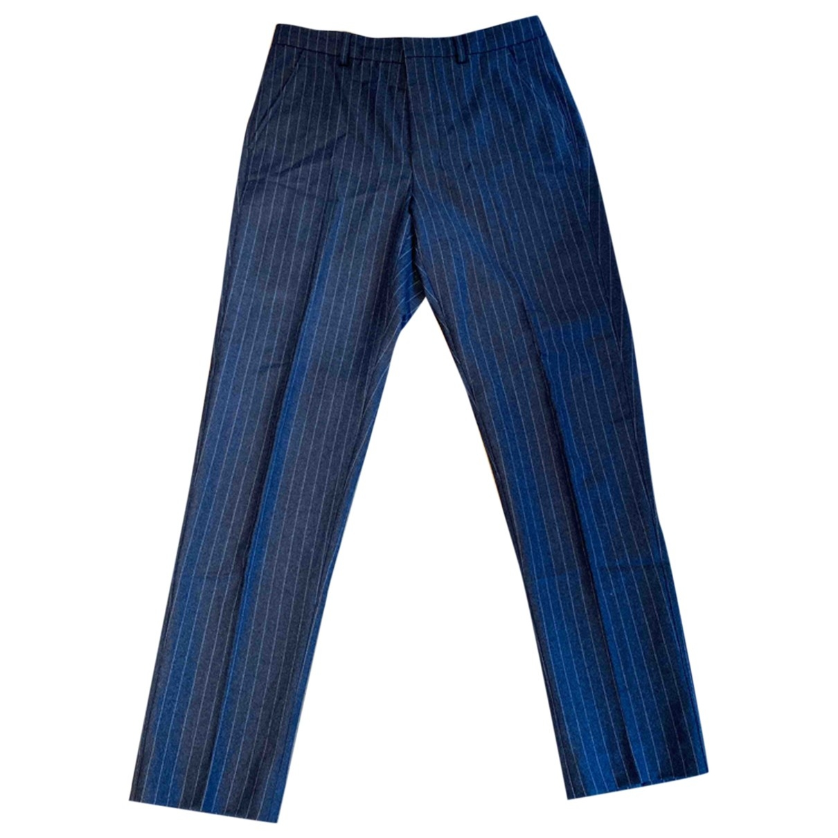 Ami \N Anthracite Wool Trousers for Men 38 FR