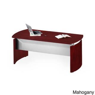 Mayline Medina 72-inch Desk with Curved End Panels (Mahogany)