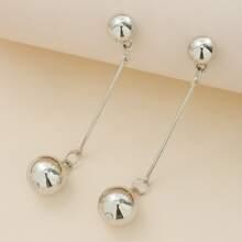 Round Ball Decor Drop Earrings