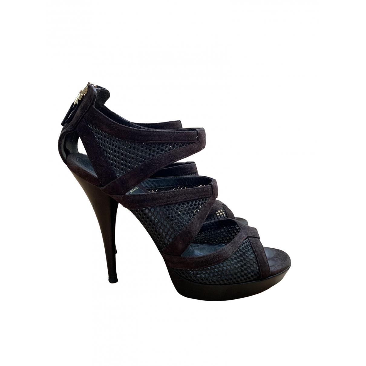 Fendi \N Brown Suede Sandals for Women 39.5 EU