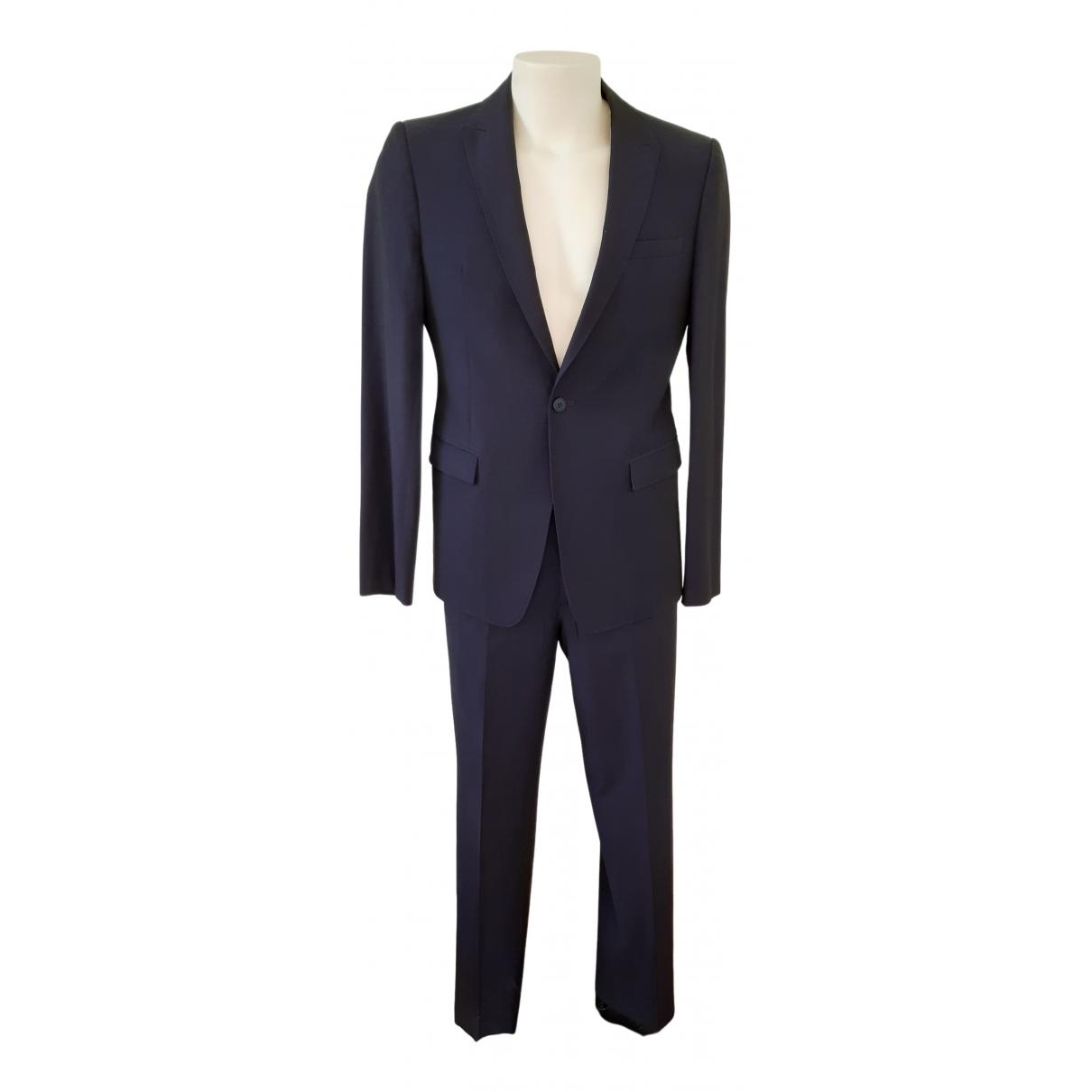 Emporio Armani - Costumes   pour homme en laine - bleu