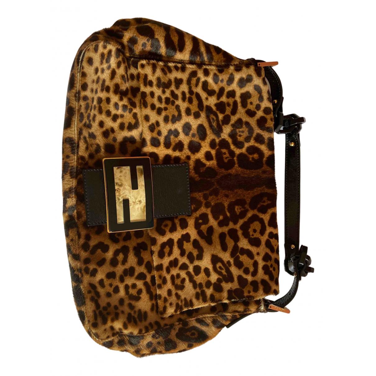 Fendi N Brown Pony-style calfskin handbag for Women N