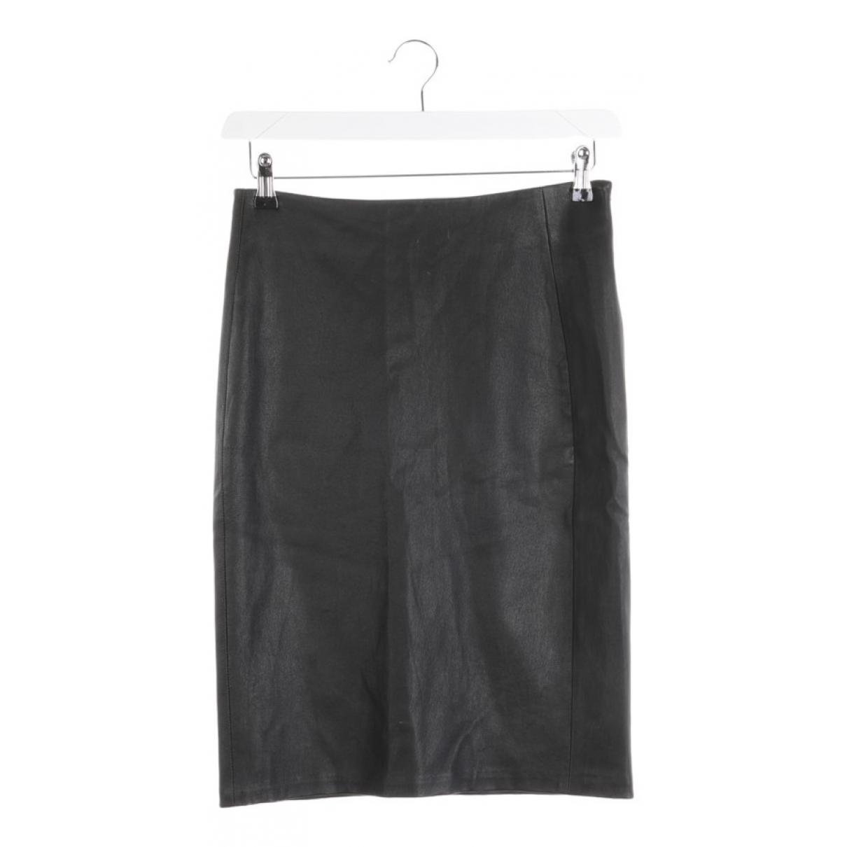 Diane Von Furstenberg \N Black Leather skirt for Women 34 FR