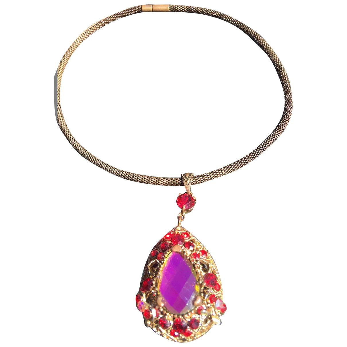- Collier   pour femme en cristal - rouge