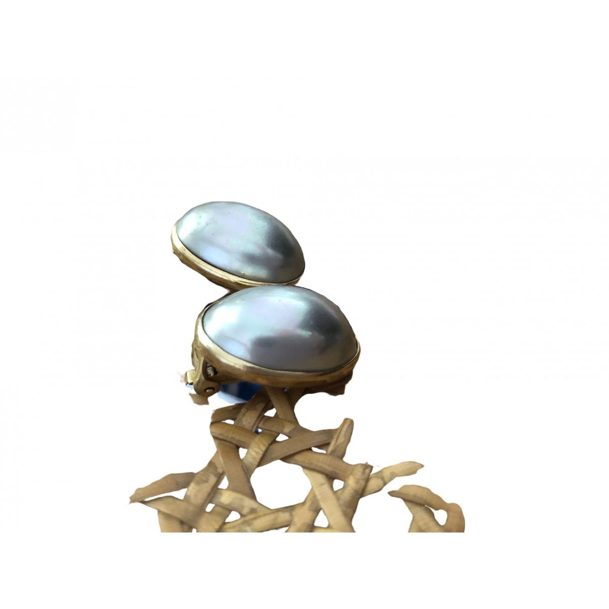Dior \N OhrRing in  Blau Metall