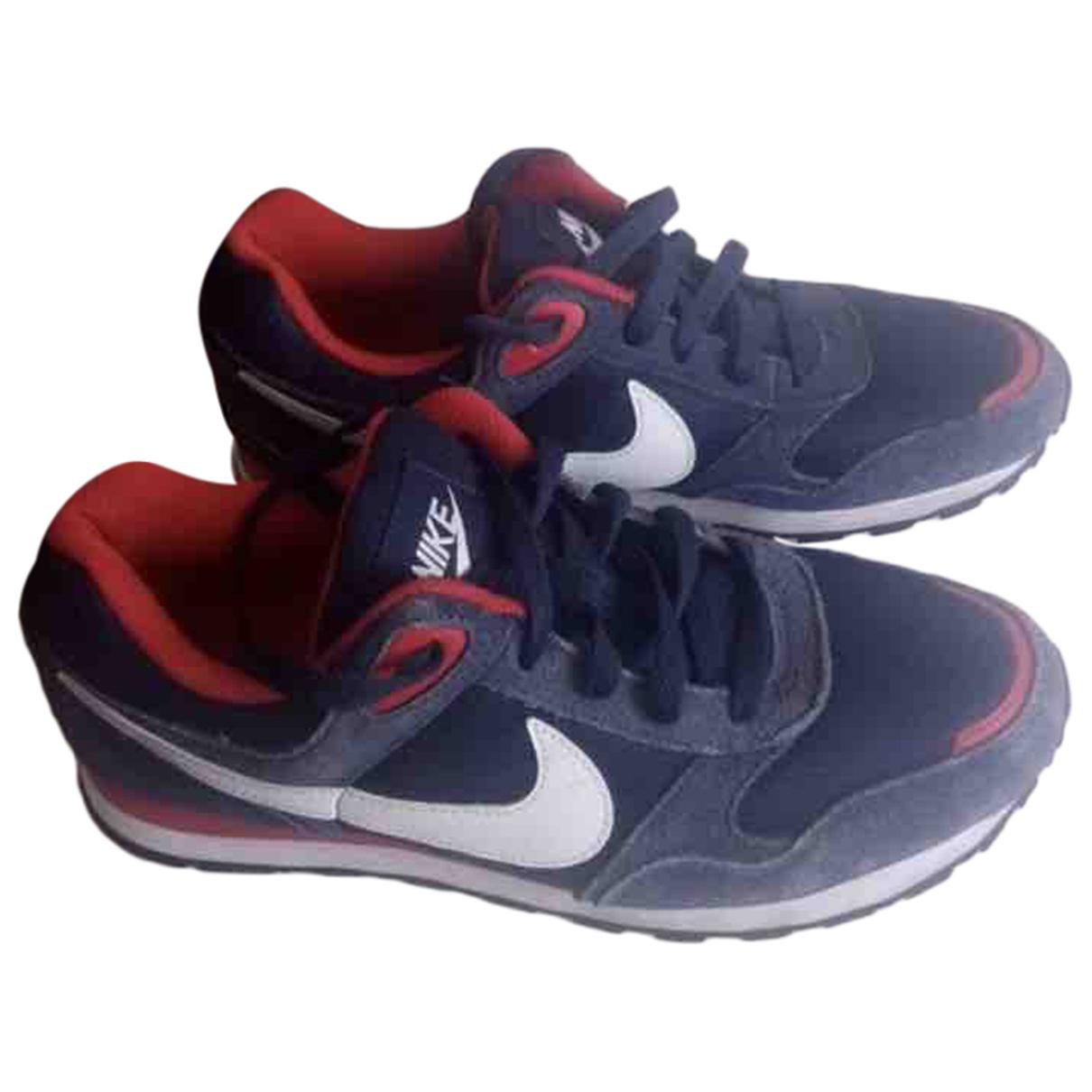 Nike - Baskets   pour femme en toile - marine