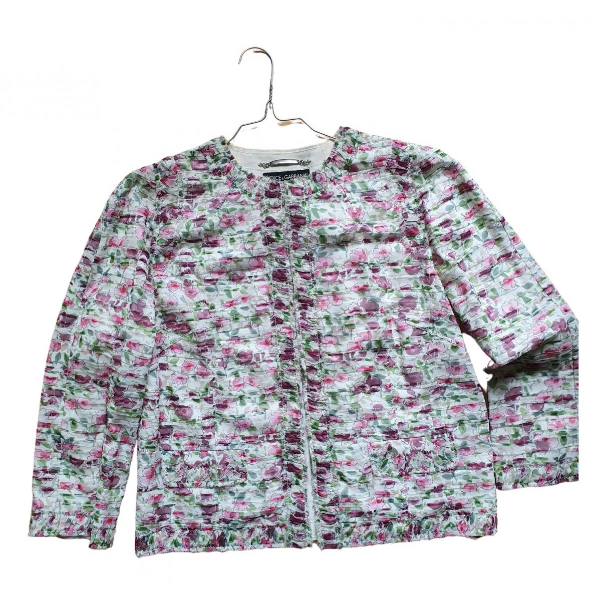 Dolce & Gabbana - Veste   pour femme en soie - rose