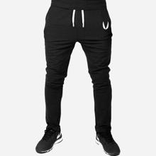Pantalones de hombres de cintura con cordon con bordado