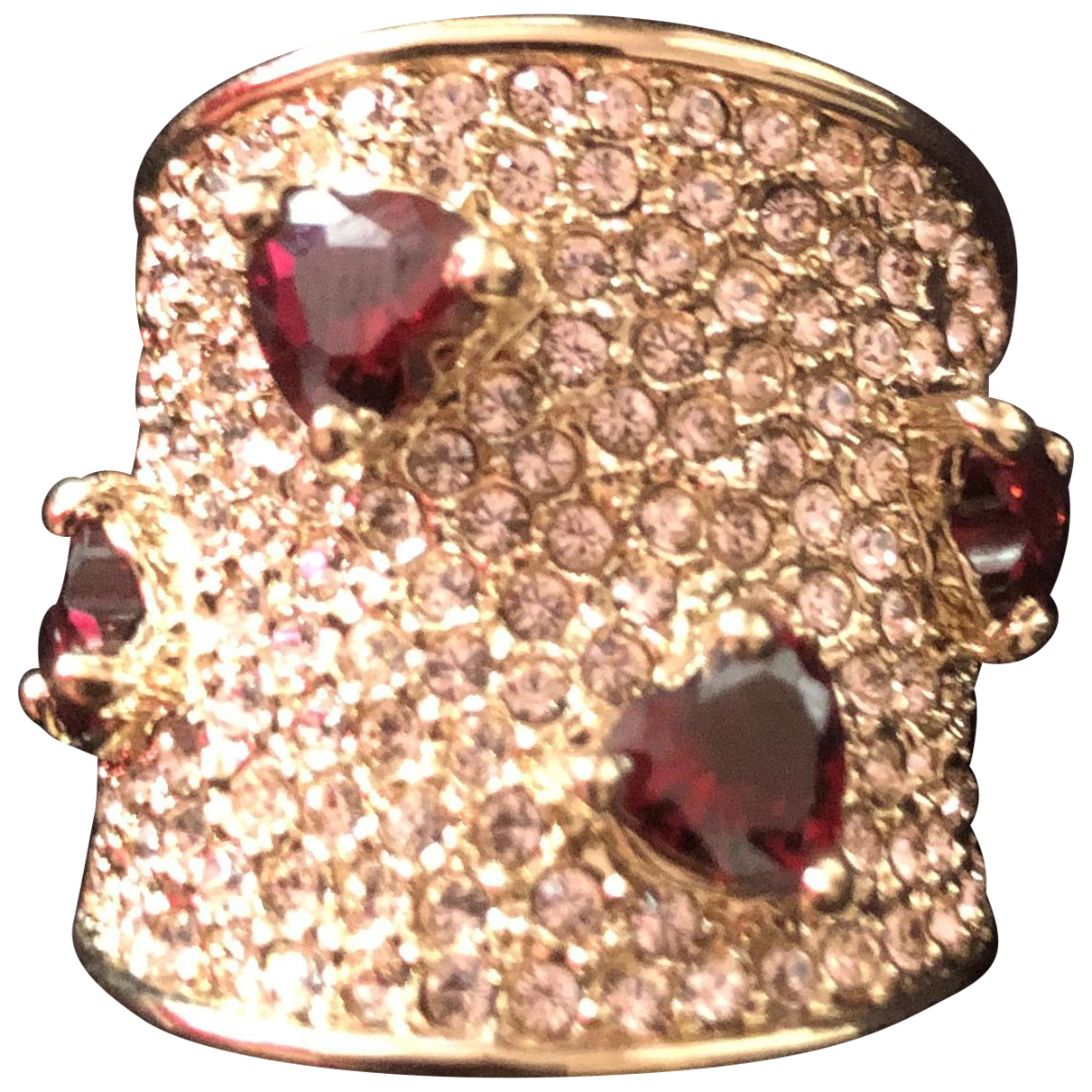 Non Signé / Unsigned Bagues Cocktails Gold Metal ring for Women 55 MM