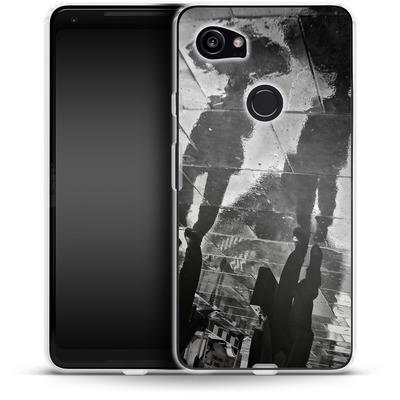Google Pixel 2 XL Silikon Handyhuelle - It Must Be Monday Morning von Ronya Galka