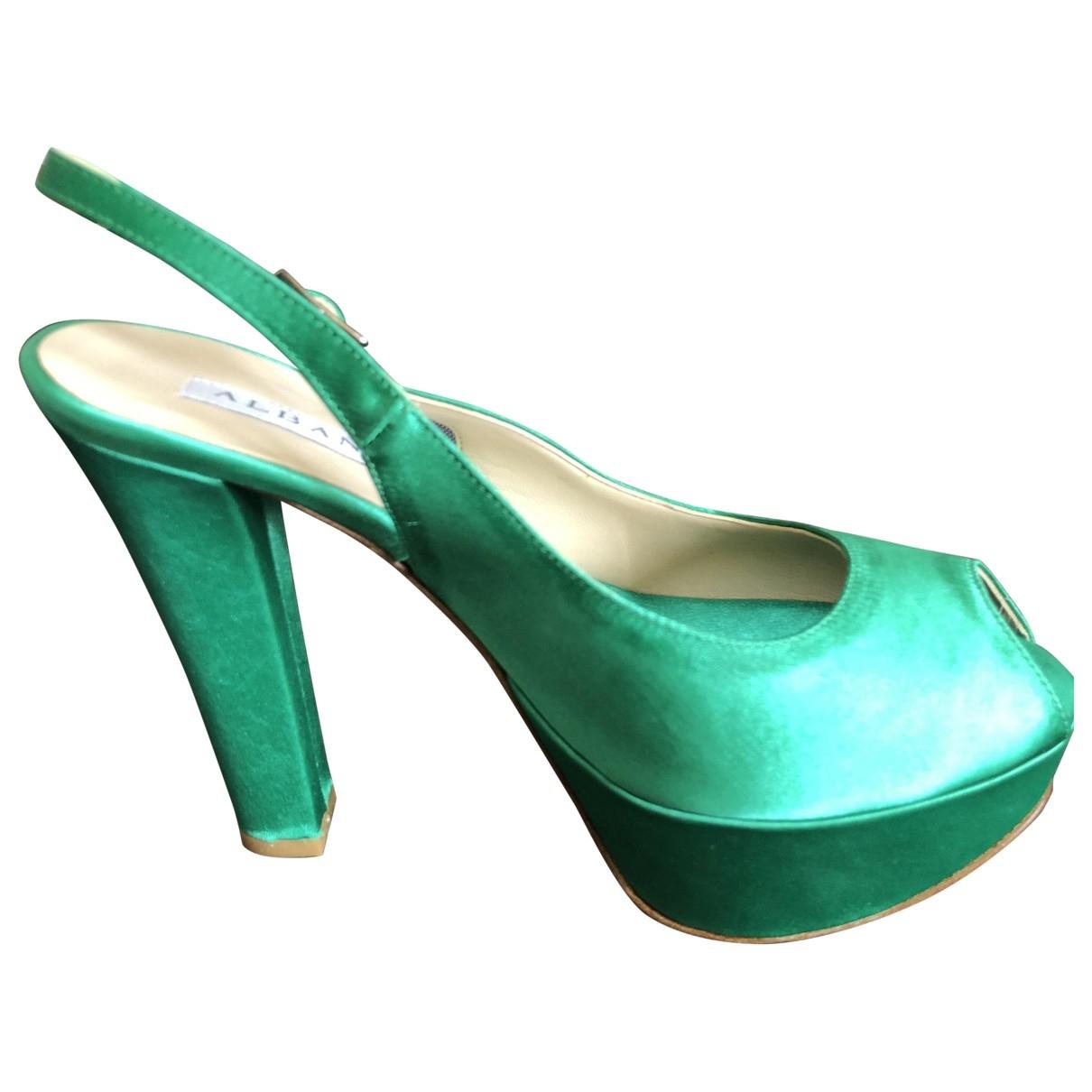 - Escarpins   pour femme en cuir - vert