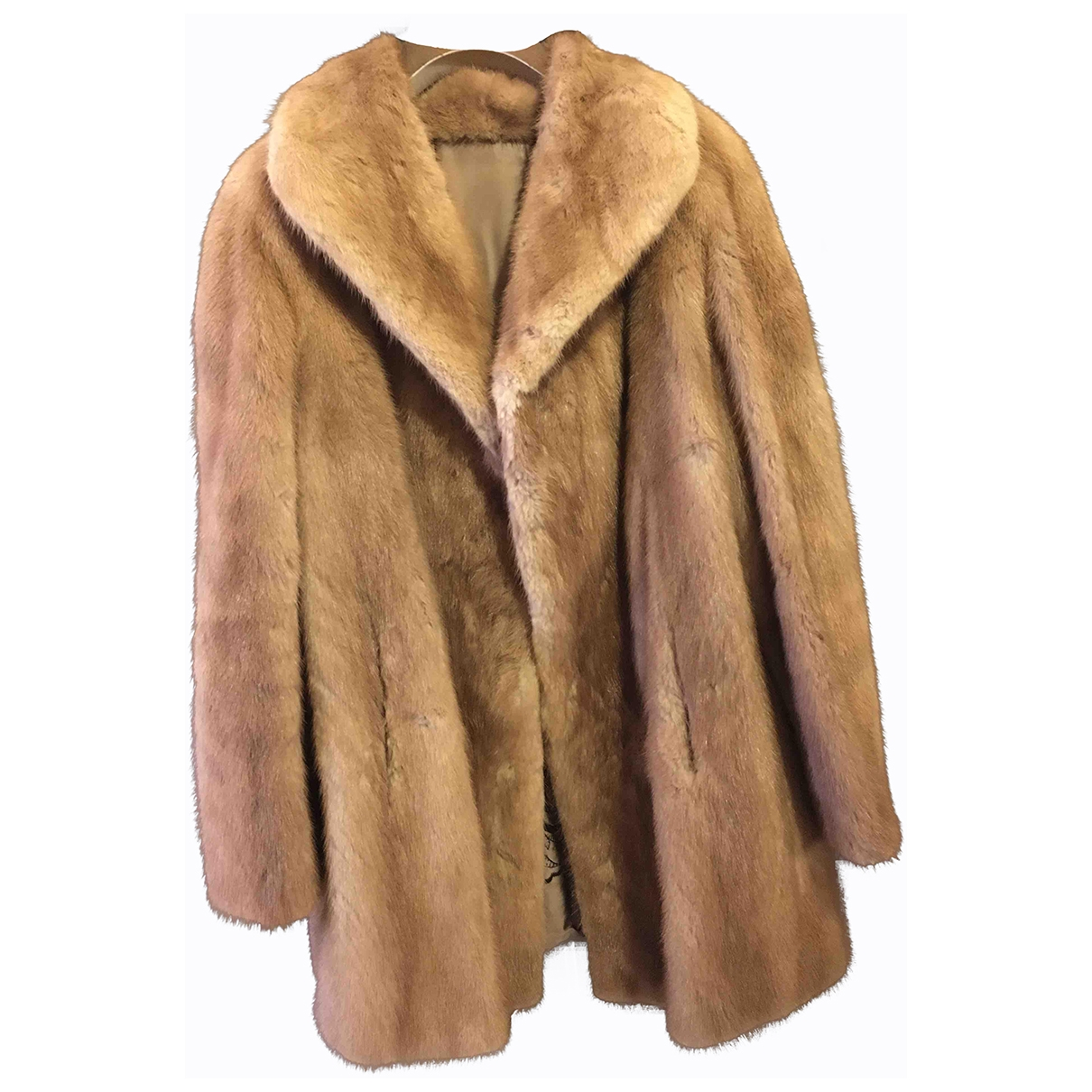 Non Signé / Unsigned Oversize Brown Mink coat for Women 42 IT