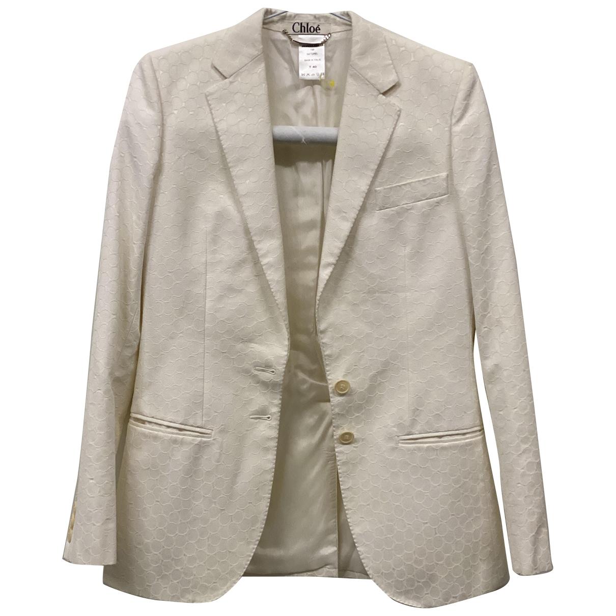 Chloe - Veste   pour femme en coton - blanc