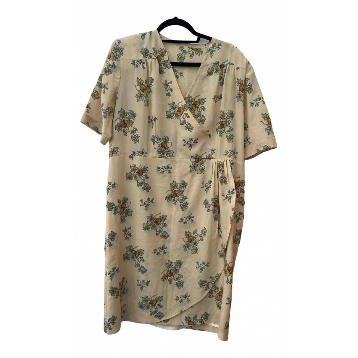Non Signé / Unsigned Oversize Beige dress for Women M International