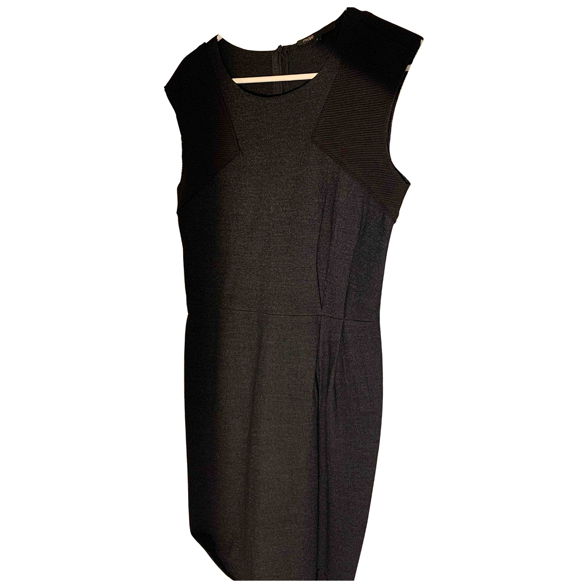Maje \N Anthracite Wool dress for Women 2 0-5