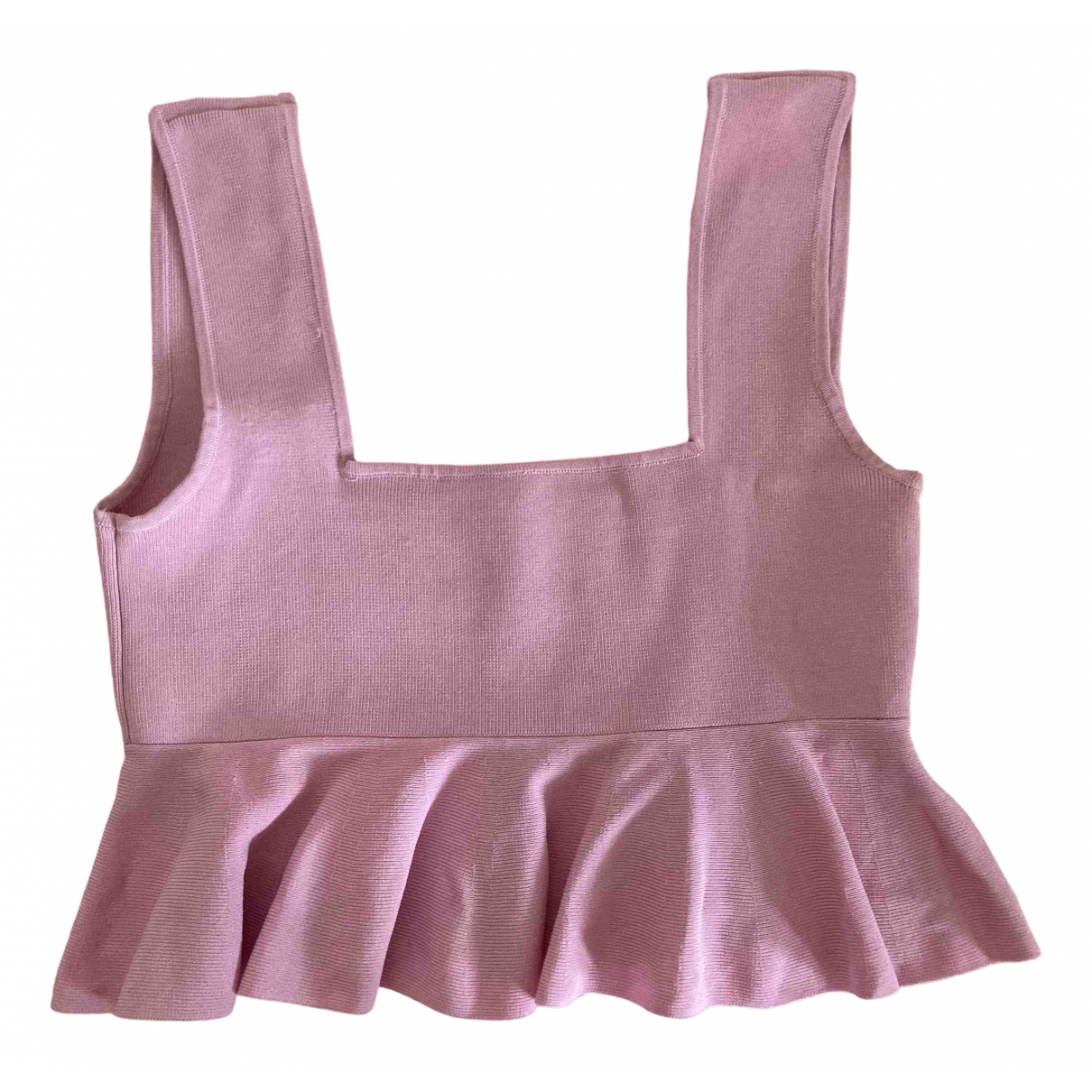Zara - Top   pour femme en coton - rose