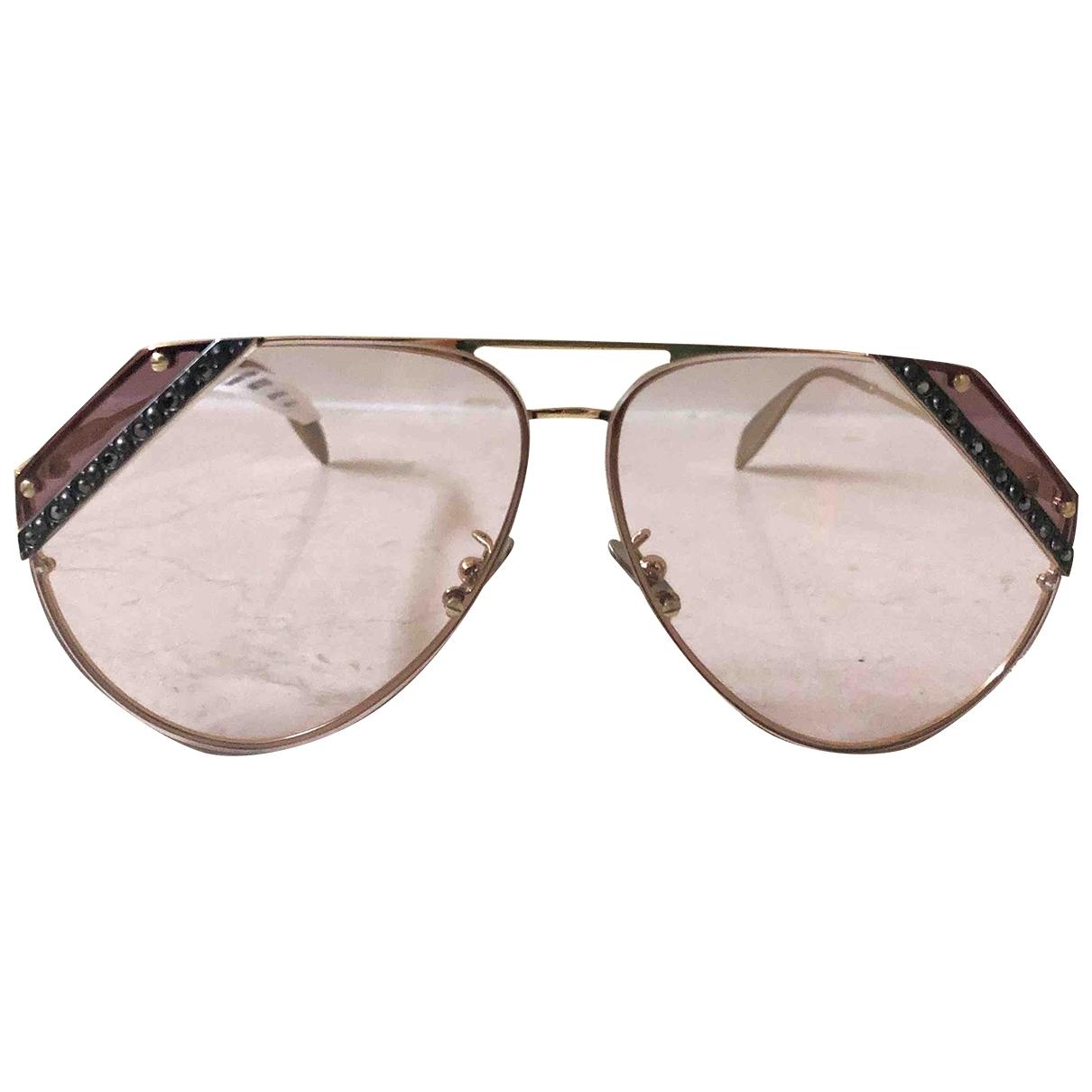Alexander Mcqueen \N Gold Metal Sunglasses for Women \N