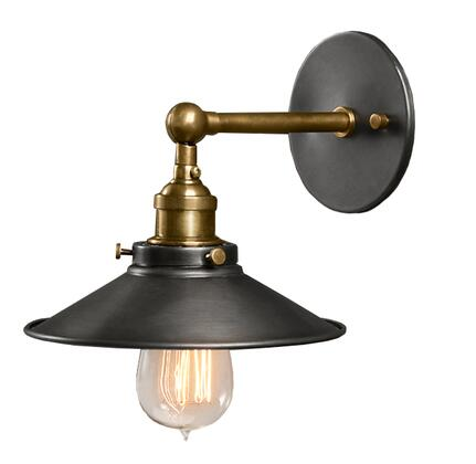 241872 Liezel 1-light Black Edison Wall Sconce in Black