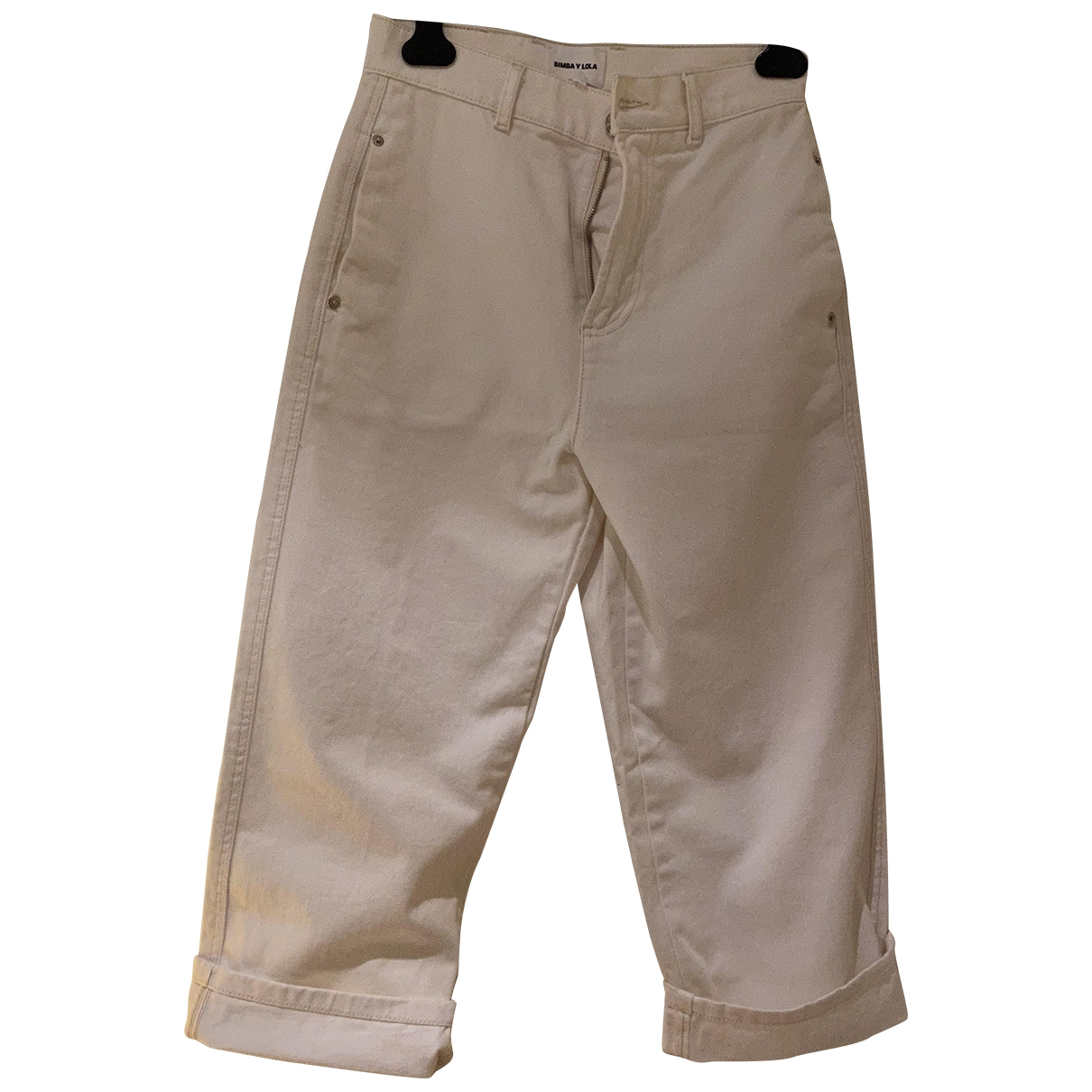 Bimba Y Lola \N Ecru Cotton Jeans for Women 36 FR