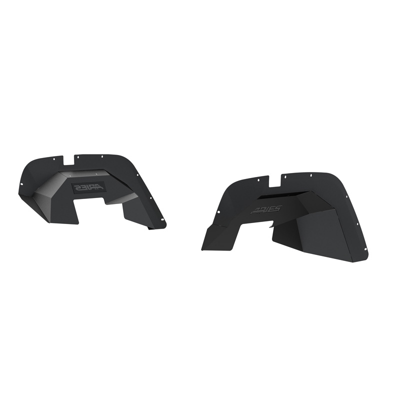 Aries 1500350 Aluminum Carbide Black Powder Coat Jeep Front Inner Fender Liners