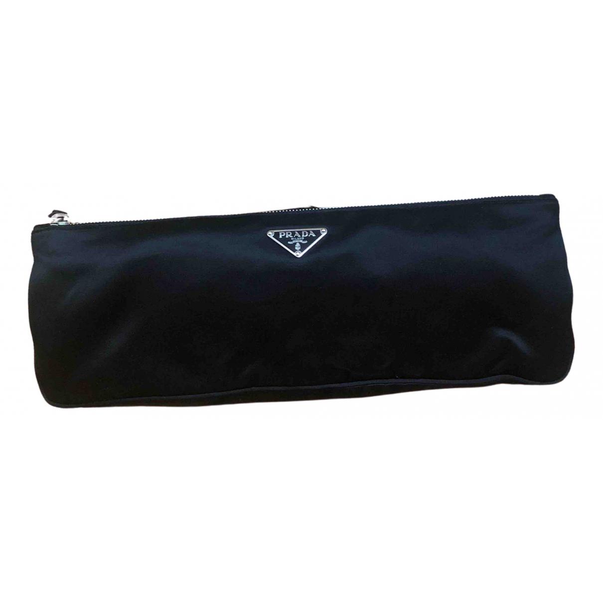 Prada \N Black Silk Clutch bag for Women \N