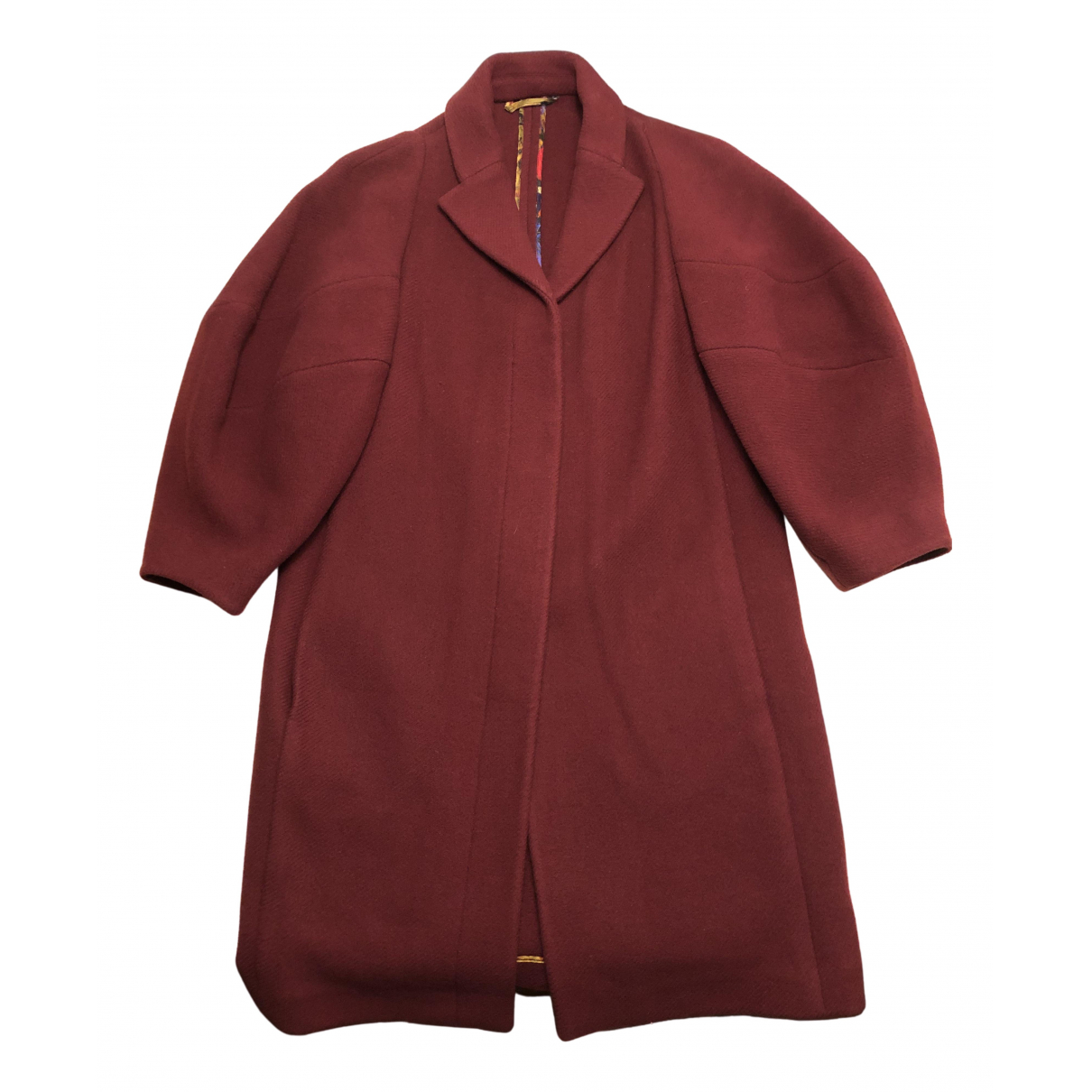 Etro - Manteau   pour femme en laine - bordeaux