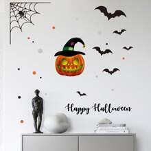 Halloween Pumpkin Print Wall Sticker